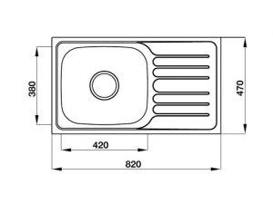 Chậu Rửa Chén HS19-SSD1R60 Hafele 567.23.093