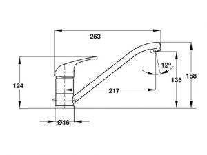 Vòi Rửa Chén HT19-CH1F135 Hafele 570.50.270