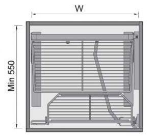 Tủ Đựng Đồ Khô 5 Tầng 600mm Imundex 7 801 706