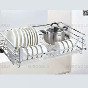 Kệ Xoong Nồi Bát Đĩa Gắn Cánh Tủ Âm R700mm Eurogold EP70
