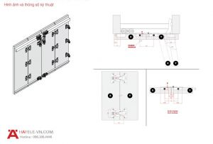 Phụ Kiện Cửa Trượt Fold 40 MF Flex Hafele 409.61.000