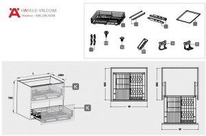 Bộ Rổ Úp Bát Verona Series 800mm Hafele 549.03.155