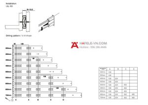 Ray Bi Nhấn Mở 450mm Hafele 494.02.084