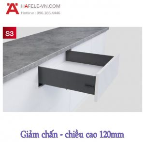 Ray Hộp Alto-S Giảm Chấn H120mm Hafele 552.49.335