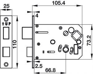 Khóa Điện Tử EL7900-TCB Thân Lớn Hafele 912.05.647