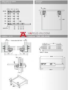 Ray Âm EPC Plus Nhấn Mở 400mm Hafele 433.03.134