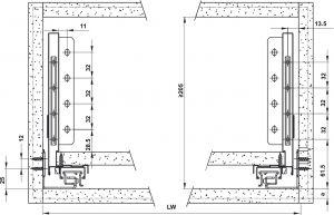 Ray Hộp Alto-S Nhấn Mở Giảm Chấn H170mm Hafele 552.55.708