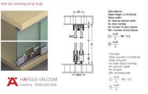 Phụ Kiện Cửa Trượt Tủ Kính Slido Design 25IFG Hafele 402.32.032