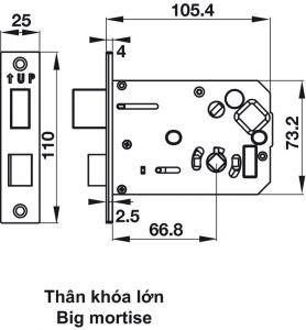 Khóa Điện Tử Thân Khóa Lớn EL7500-TC Hafele 912.05.717