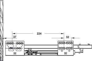 Ray Hộp Alto Giảm Chấn H84mm Hafele 552.75.701