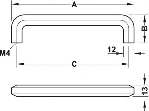 Tay Nắm Tủ 140mm H1710 Hafele 106.62.905