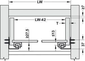 Ray Âm EPC Pro Nhấn Mở 350mm Hafele 433.32.062