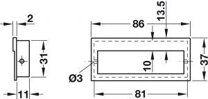 Tay Nắm Tủ Âm 86mm Hafele 151.09.600