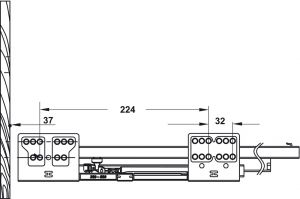 Ray Hộp Alto Giảm Chấn H84mm Hafele 552.03.085