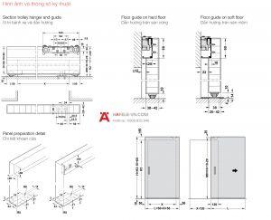 Phụ Kiện Cửa Trượt Slido Design 80-M Hafele 940.59.009