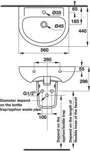 Chậu Treo Tường Có Nắp Che Siphon Compact Hafele 588.82.206