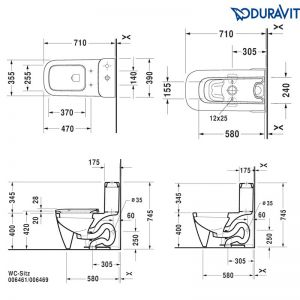 Bồn Cầu Duravit Một Khối Happy D.2 Hafele 588.46.450