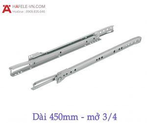 Ray Bánh Xe Mở 3/4 Dài 450mm Hafele 431.16.704