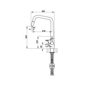 Vòi Rửa Chén HT20-CH1P241 Hafele 570.82.220