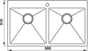 Chậu Rửa Chén Hafele HS20-SSN2S90 Hafele 567.20.537