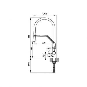 Vòi Rửa Chén HT20-CH1F187 Hafele 570.82.230