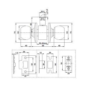 Bộ Khóa Tay Nắm Tròn Cửa WC Hafele 489.93.137