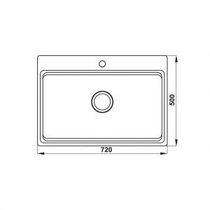 Chậu Rửa Hafele HS20-SSN1S80 Hafele 567.20.526