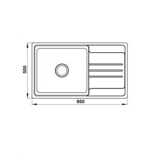 Chậu Rửa Chén HS20-SSN1S60 Hafele 567.20.266