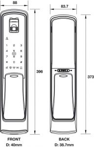 Khóa Điện Tử EL9500-TCS Hafele 912.05.315