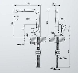 Vòi Rửa Chén HT20-GH1P259 Hafele 570.82.400