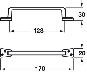 Tay Nắm Tủ Cổ Điển 170mm Hafele 107.03.115