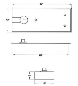 Bản Lề Sàn 150Kg EN4 Hafele 499.30.116