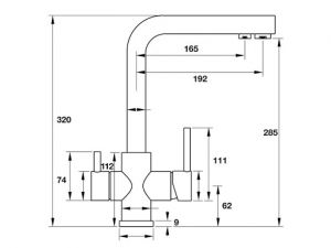 Vòi Rửa Chén HT19-CH2F285 Hafele 570.51.050