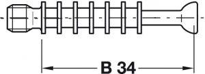 Chốt Nối Nhỏ Ren M6 Hafele 262.28.642