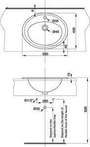 Bồn Rửa Lavabo Vành Nổi Compact Hafele 588.82.205
