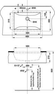 Chậu Rửa Lavabo Âm Bàn Compact Hafele 588.82.109