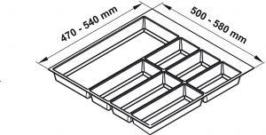 Khay Chia Classico Xám R450mm Hafele 556.52.243