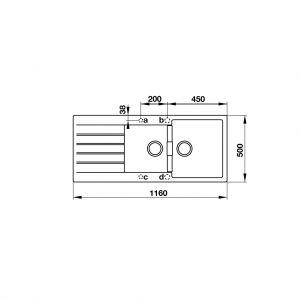 Chậu Rửa Đá HS19-GED2S80 Hafele 570.35.570