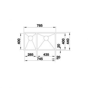 Chậu Rửa Chén Blanco Quatrus R15 285/435-IU 570.27.169