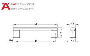 Tay Nắm Nhôm 140mm Hafele 107.74.922