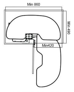 Kệ Góc Xoay 900mm Imundex 7 803 705