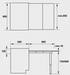 Phụ Kiện Bàn Kéo Mở Rộng 900mm Hafele 505.74.921