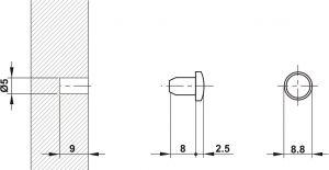 Chặn Cửa Giảm Ồn Lắp Qua Lỗ Khoan Hafele 356.20.460