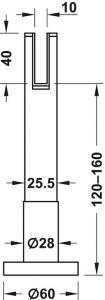 Chân Đỡ Nhà Vệ Sinh Công Cộng Hafele 988.98.120