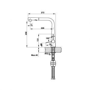Vòi Rửa Chén HT20-GH1P259 Hafele 570.82.300