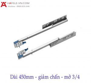 Ray Âm EPC EVO Mở 3/4 Giảm Chấn 450mm Hafele 433.32.504