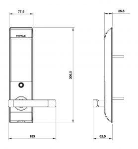 Khóa Điện Tử DL7900 Hafele 912.05.650