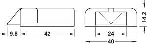 Công Tắc Cửa Đèn Led Hệ Modular Hafele 833.89.143