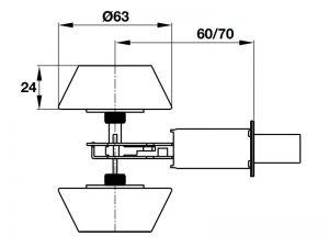 Khóa Cóc 2 Đầu Chìa Hafele 911.64.384