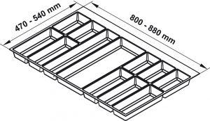 Khay Chia Classico 900mm Hafele 556.52.249